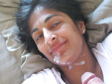 Indian girl with cumshot on face