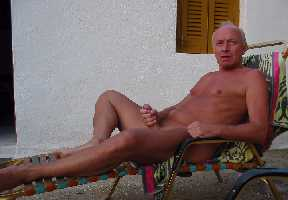 Naked mature men with erections